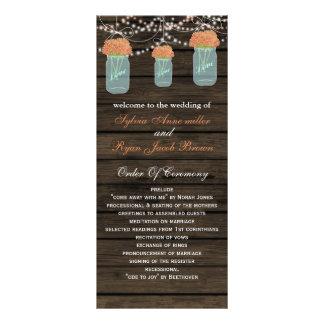 Carte Publicitaire Les pots de maçon de Barnwood, corail fleurit des