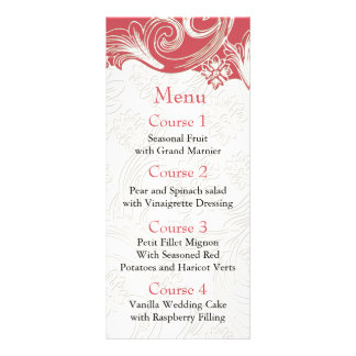 Carte Publicitaire Mariage floral de rose et blanc de ressort