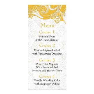 Carte Publicitaire Mariage floral jaune et blanc de ressort