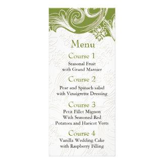 Carte Publicitaire Mariage floral vert et blanc de ressort
