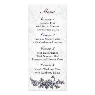 Carte Publicitaire Mariage floral vintage de marine