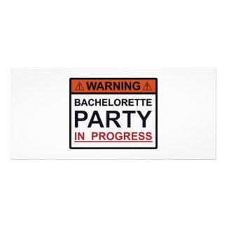 Carte Publicitaire Partie de avertissement de Bachelorette en cours