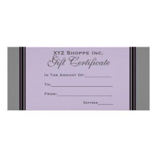 Carte Publicitaire Rayures noires grises de certificat-prime