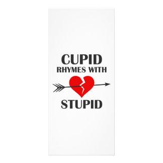 Carte Publicitaire Rimes de cupidon avec le jour de Valentines