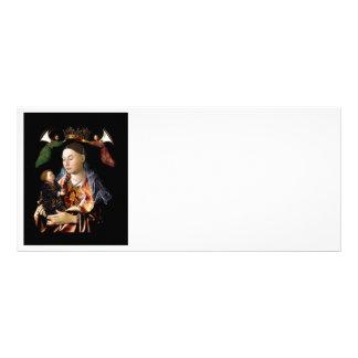 Carte Publicitaire Salaison de Madonna et de l'enfant du Christ