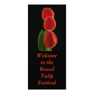 Carte Publicitaire Simplicité 1, accueil au Bowal TulipFestival