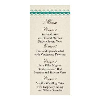 Carte Publicitaire Toile de jute rustique turquoise et mariage