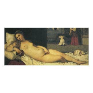Carte Publicitaire Vénus d'Urbino par Titian, art de Renaissance