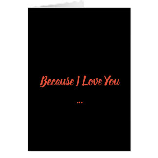Carte Puisque je t'aime