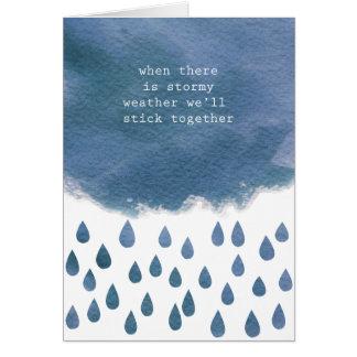 Carte Quand il y a temps orageux nous collerons ensemble