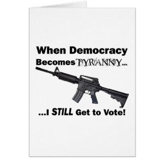 Carte Quand la démocratie devient tyrannie…