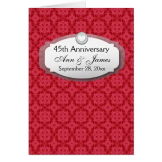 Carte quarante-cinquième Saphir Z28 rouge d'anniversaire