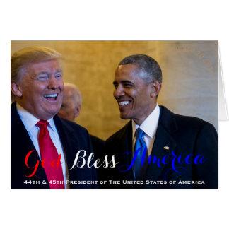 Carte quarante-quatrième et quarante-cinquième président