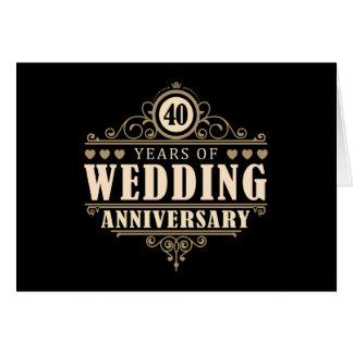 Carte quarantième Anniversaire de mariage