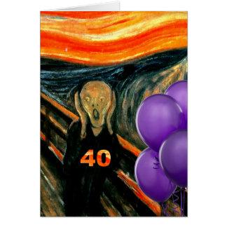 Carte Quarantième anniversaire drôle