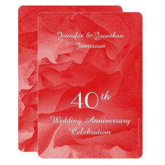 Carte quarantième L'invitation de fête d'anniversaire de