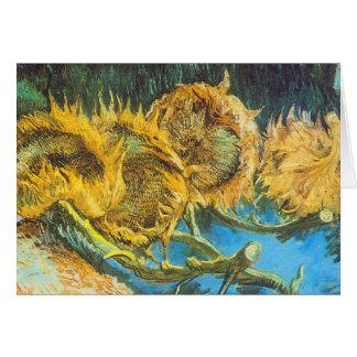 Carte Quatre tournesols coupés par Vincent van Gogh