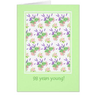 Carte Quatre-vingt-dix-huitième salutation assez florale