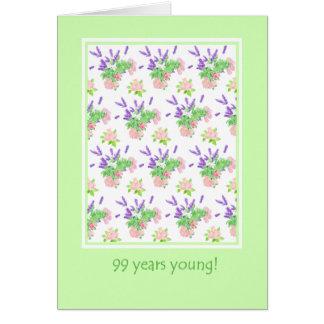Carte Quatre-vingt-dix-neuvième salutation assez florale