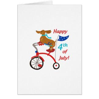 Carte Quatrième heureux de juillet