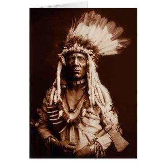 Carte Queue de belette - un Blackfoot de Piegan - 1900