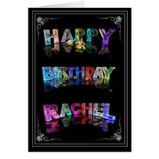 Carte Rachel nommée dans 3D s'allume (la photographie)