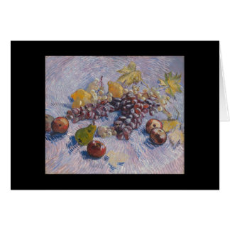 Carte Raisins, citrons, poires, pommes - Vincent van