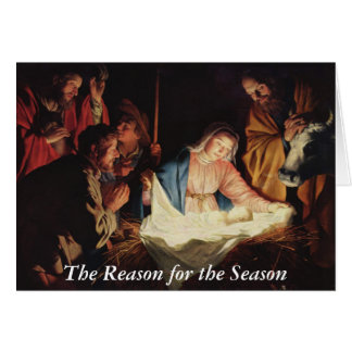 Carte Raison de l'événement de nativité de saison avec