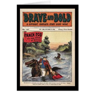 Carte Ranch comique occidental périodique courageux et