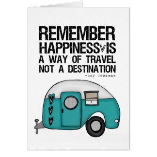 Carte rappelez-vous le bonheur