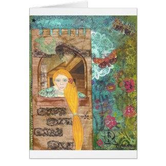 Carte Rapunzel, rêvant