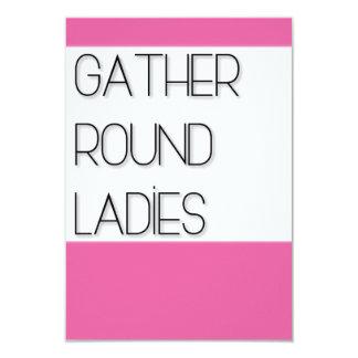Carte Rassemblement autour des dames