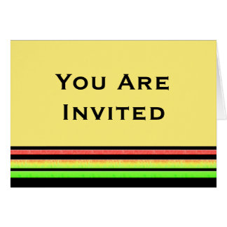 Carte Rayures d'arc-en-ciel d'invitation