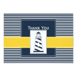 Carte rayures de marine, phare, Merci nautique