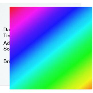 Carte Rayures diagonales colorées - 1