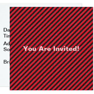 Carte Rayures diagonales noires et rouges minces