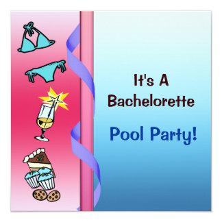 Carte Réception au bord de la piscine Bachelorette