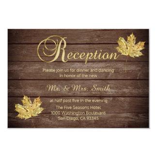 Carte Réception de mariage campagnard rustique élégante