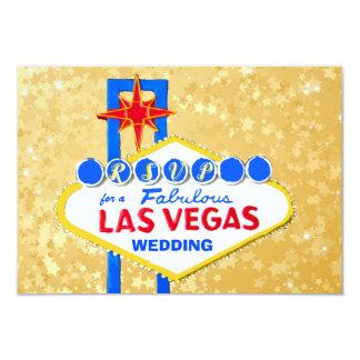 Carte Réception de mariage de RSVP Las Vegas d'or