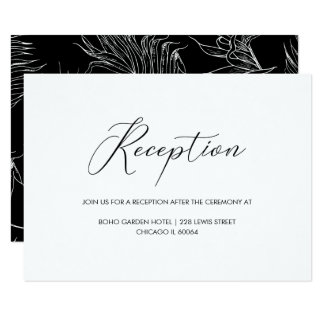 Carte Réception de mariage en lettres de manuscrit de