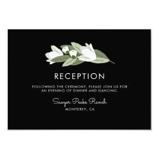 Carte Réception florale blanche de brins de mariage