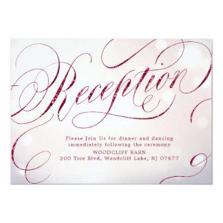 Carte Réception vintage fascinante de calligraphie de