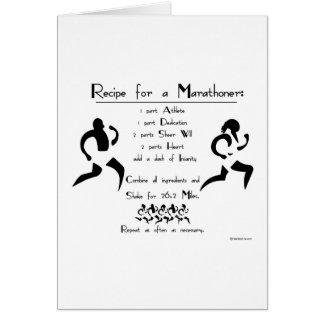 Carte Recette pour une bonne chance de Marathoner