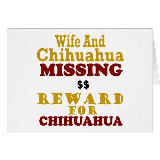 Carte Récompense absente de chiwawa et d'épouse pour le
