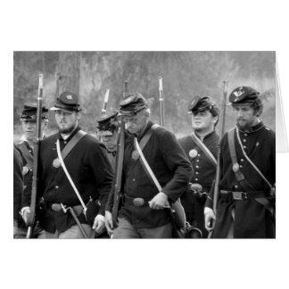 Carte Reconstitution de guerre civile - soldats des