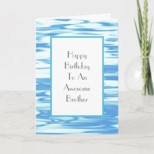 Carte Réflexion bleu d'Aqua