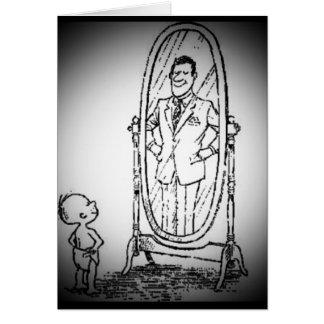 Carte Regard dans le miroir