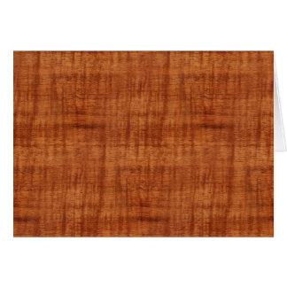 Carte Regard du bois de grain d'acacia bouclé