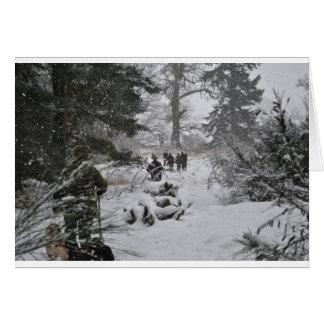 Carte Région boisée d'hiver