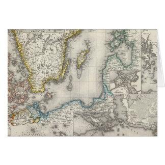 Carte Région de mer baltique